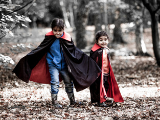 Simran and Bani Vampires Halloween 2018-