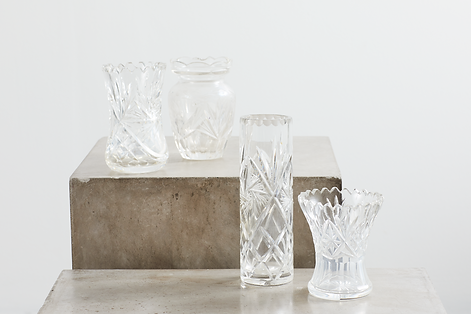 Lej krystalvaser til din fest hos tablesetting serviceudlejning