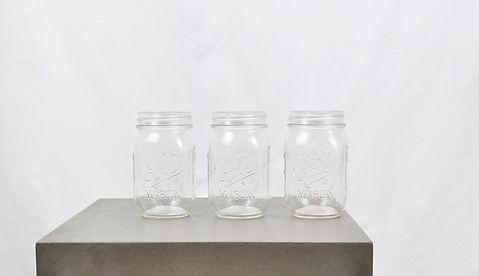 Lej MAson jars til dine drinks elller limonade til din fest hos tablesetting