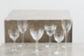 leje af dessertvinsglas krystal