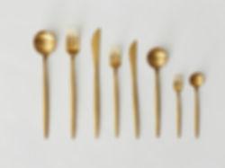 Guldbestik til leje hos Tablesetting Seviceudlejning