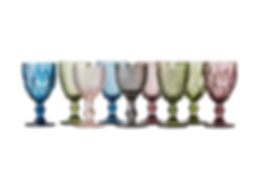 Lej farvede glas hos Tablesetting Serviceudlejning