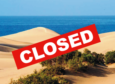 Maspalomas Dunes closes to the public 😱