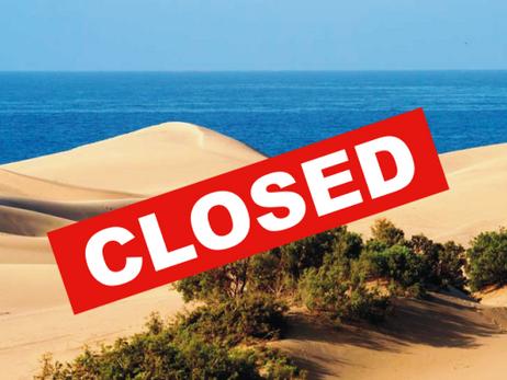 Maspalomas Dunes closes to the public 😱