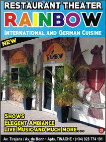 Rainbow, restaurant theatre