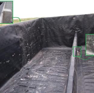 Revestimento de tanque de concreto