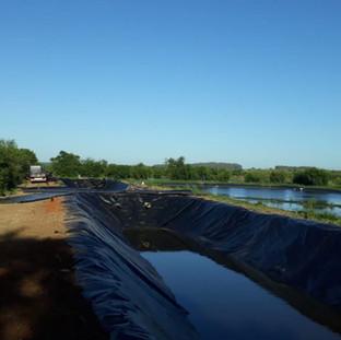 Lagoas para tratamento de efluentes - São Gabriel-RS