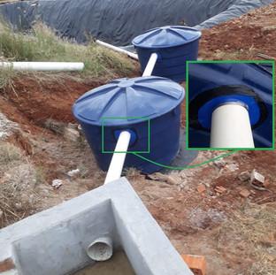 Cisterna com sistema de filtro