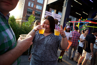 party on the Highline