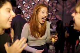 party laughs