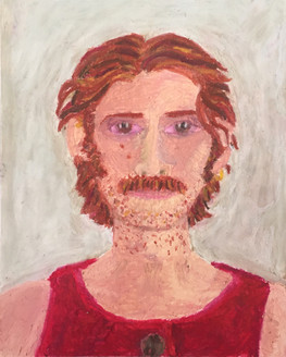 Self-Portrait in Red, 2020