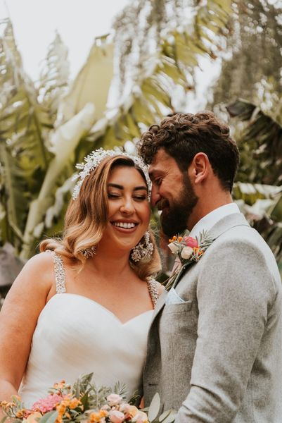spanish fiesta bride and groom glam brid