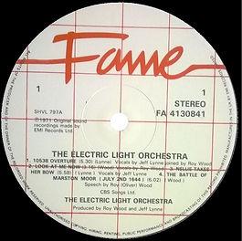 ELO LP Fame Label
