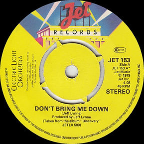 Don't Bring Me Down Jet 153 - 4 Prong Push Out with Curly Font
