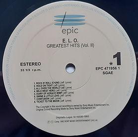 ELO's Greatest Hits II EPC 471956 1 - Spain
