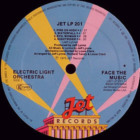 ELO Face The Music - Jet LP 201