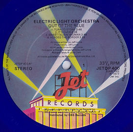 """Out Of The Blue JETDP400 / UAR 100 Blue Vinyl - Missing """"Made In England"""""""