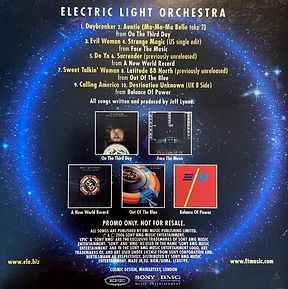 Electric Light Orchestra - Re-Issues Sampler Slip Case Rear