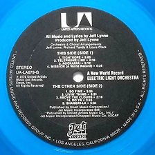 A New World Record UA-LA679-G Blue Vinyl