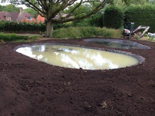 Alun Gedrych Ltd - Freshly installed ponds