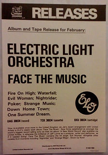 Face The Music Re-Issue Advert 1977