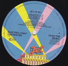 ELO Face The Music - Jet LP 201