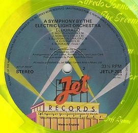 Eldorado JETLP 203 Yellow Vinyl 1st Issue Side 2