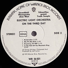 On The Third Day - WB 56 021 Promo