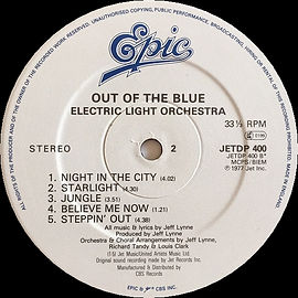 Out Of The Blue Jet DP400 Epic Label