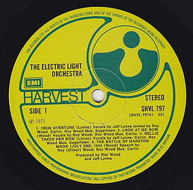 ELO LP SHV 797 EMI Issue V1