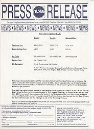 Telstar Press Release Oct 1990