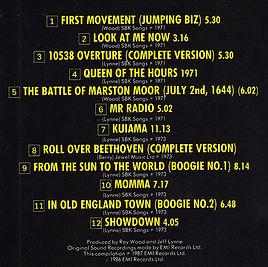 First Movement Track List