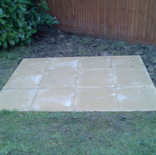 Alun Gedrych - Slabs for Shed Base