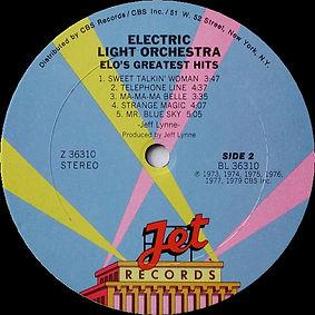 ELO Greatest Hits PZ 36310 Side 2