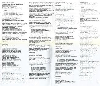 Discovery CD ZK 35769 Fold Out Lyrics