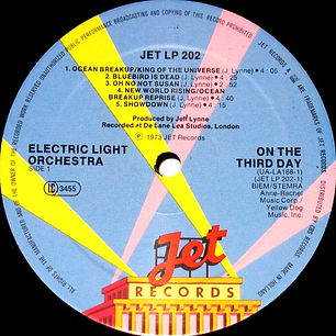 ELO - On The Third Day Jet LP 202