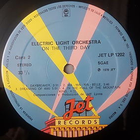 On The Third Day - Spain Jet LP 1202