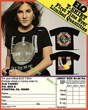 ELO USA T-Shirt Flyer 1977
