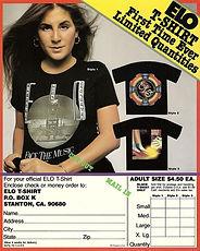 ELO USA T-Shirt Flyer 1977