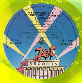 Eldorado JETLP 203 Yellow Vinyl 2nd Issue Side1