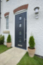 Turnberry Modern Contemporary Front Door Sunningdale Composite Front Door Duck egg Blue Burgess Hill Haywards Heath Sussex Fensa 10 year Guarantee Reputable Company Front Door Back Door Wood Timber Modern Contemporary Haywards Heath Burgess Hill Sussex