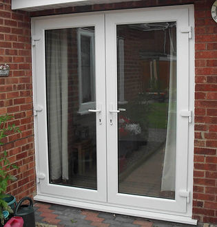 Patio French door Bi-Folding Doors Aluminium Modern Contemporay Folding door tri-folding burgess hill haywards heath sussex FENSA