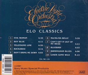 ELO Classics Excelsior CD A24981 Rear