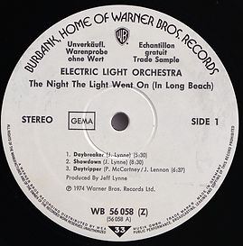 The Night The Light Went On In Long Beach - WB 56 058 Promo
