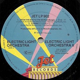 ELO 2 JET LP 902 Label Side 2