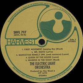 ELO SHVL 797 Label Side 2