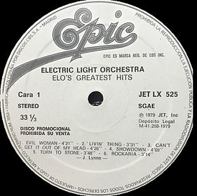 ELO Greatest Hits Vol 1 Jet LX 525 - Spain