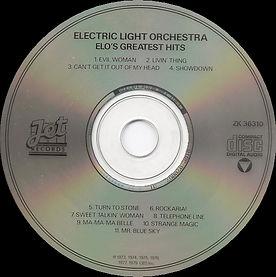 ELO Greatest Hits ZK 36310 CD Club Rear.
