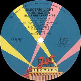 ELO Greatest Hits FZ 36310 Side 1