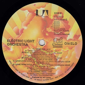 Ole ELO UA-LA630-G Sunburst Label Side 2